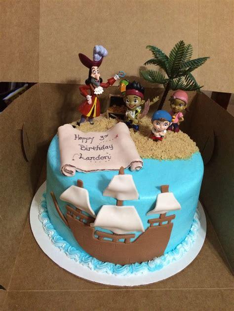 landons birthday cake jake   neverland pirates cake landons  bday party ideas