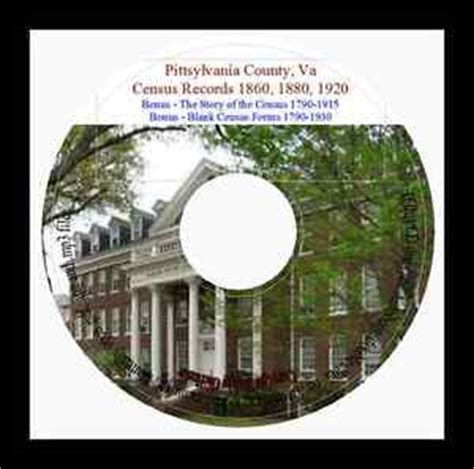 Virginia Records 1800s Pittsylvania County Va Census Records 1860 1880 1920 Va Genealogy Ebay