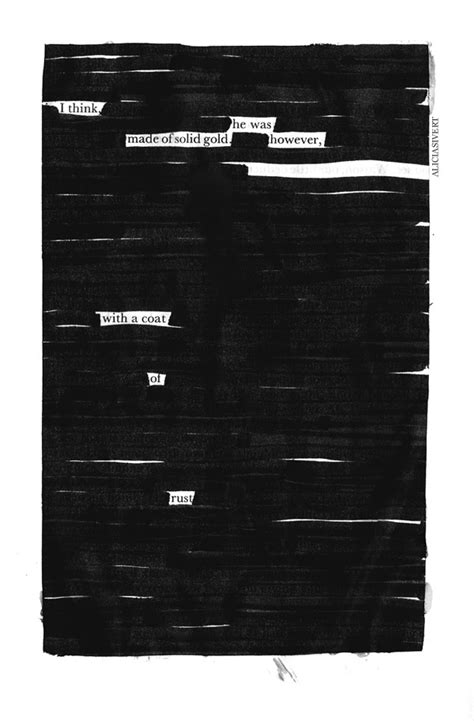 """""""Coat of rust"""", blackout poem by Alicia Sivertsson, 2013"""