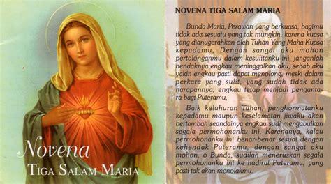 salam maria doa novena 3 salam maria ratu rosari