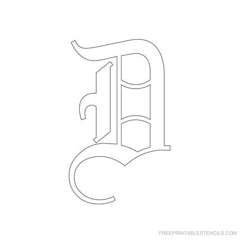 Printable Old English Alphabet Stencil D Crafts | printable old english alphabet stencil d crafts