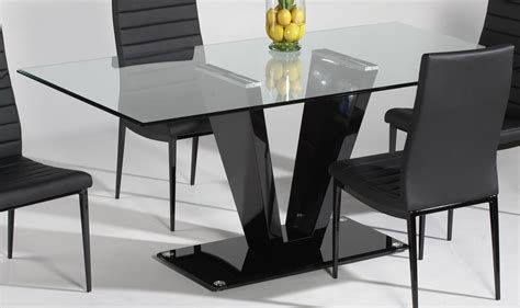 rectangular glass top dining room tables attractive rectangle glass dining table with glass top