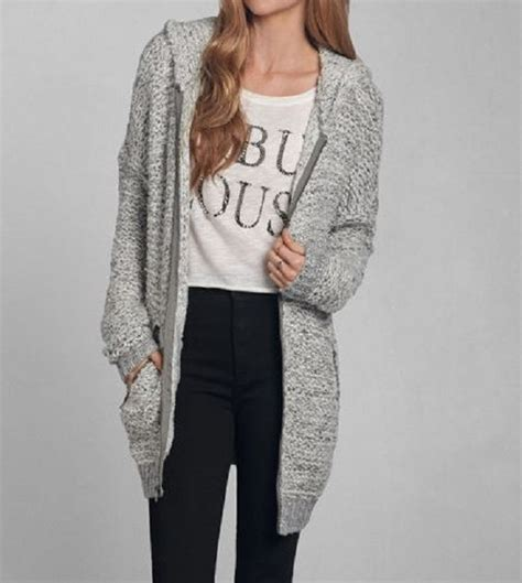 Sweater Abercrombie abercrombie fitch xs s womens and hooded cardigan tatum maxi sweater