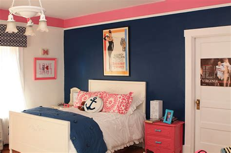 navy blue and pink bedroom ideas home attractive
