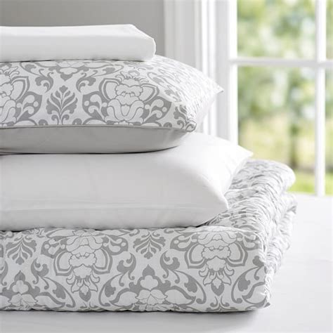 light grey comforter decorator damask value comforter set light gray pbteen