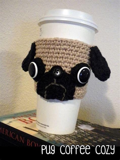 pug cozy pug coffee cozy crochet pattern on luulla