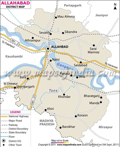 map of allahabad city ministry of environment forests government of india
