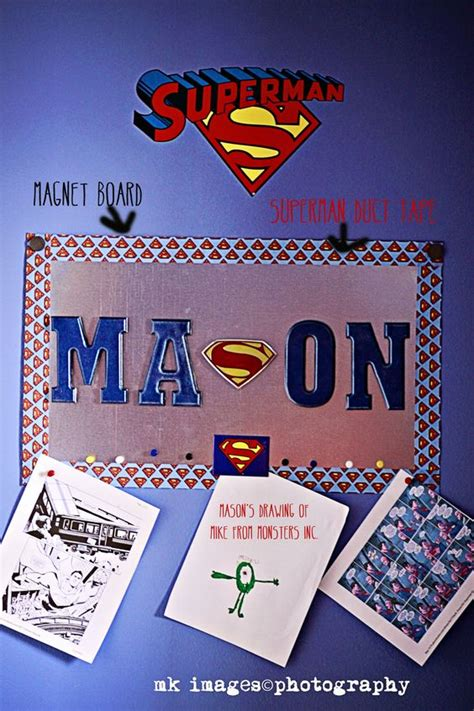 superman room superman room superman bedroom metal magnet board wooden blue letters with magnets and a