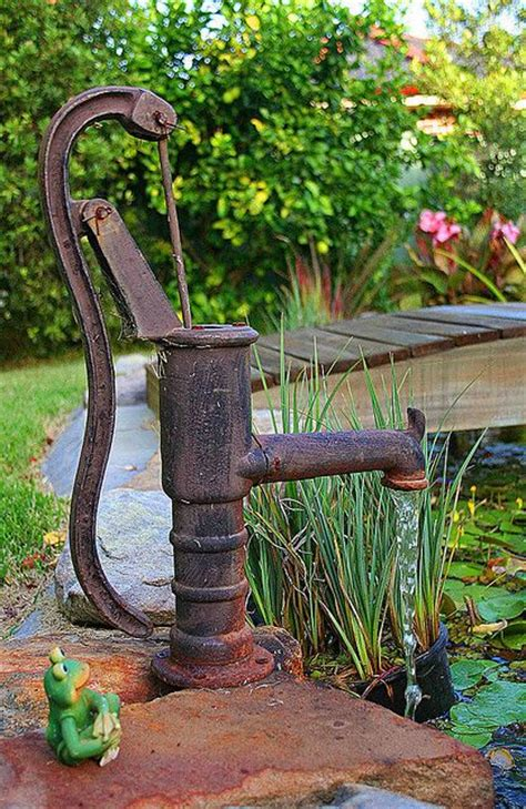 backyard water pump pump ponds and gardens on pinterest
