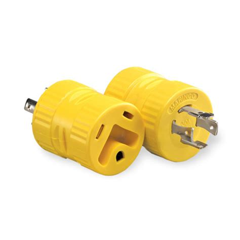 Generator Adapter With 30 Amp 4 Prong Locking Male Plug To