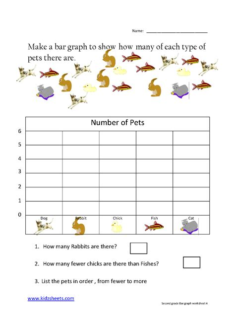 printable worksheets on graphs kidz worksheets second grade bar graph worksheet4