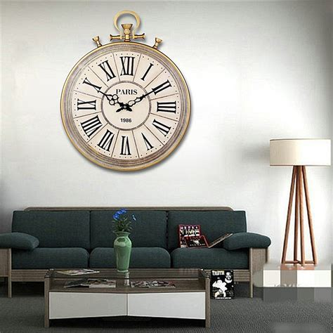 home decor mute quartz wall clock retro roman numerals aliexpress com buy charminer absolutely mute quartz wall