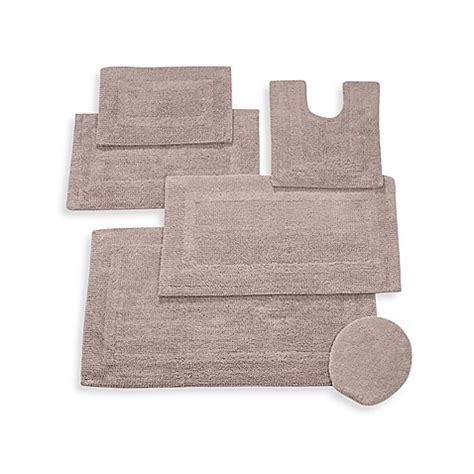 Reversible Bathroom Rugs Buy Wamsutta 174 Reversible Contour Bath Rug In Sand From Bed Bath Beyond