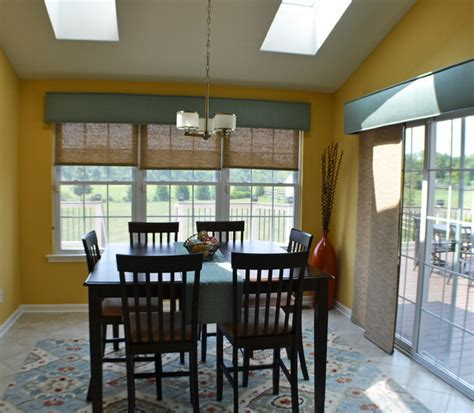 dining room window treatments delaware county window treatments contemporary dining room