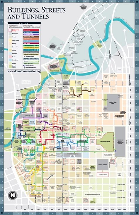 map of downtown texas downtown houston tunnels map fabulous houston walking tour walking and maps