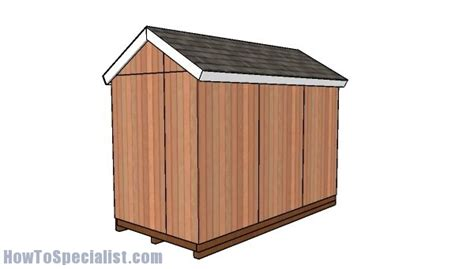 12 By 6 Shed 6x12 Gable Shed Free Diy Plans Howtospecialist How