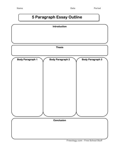 Printable Graphic Organizer For Expository Writing | great 5 paragraph expository essay graphic organizer i