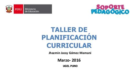 Planificacion Curricular 2016 Slideshare | planificacion curricular 2016