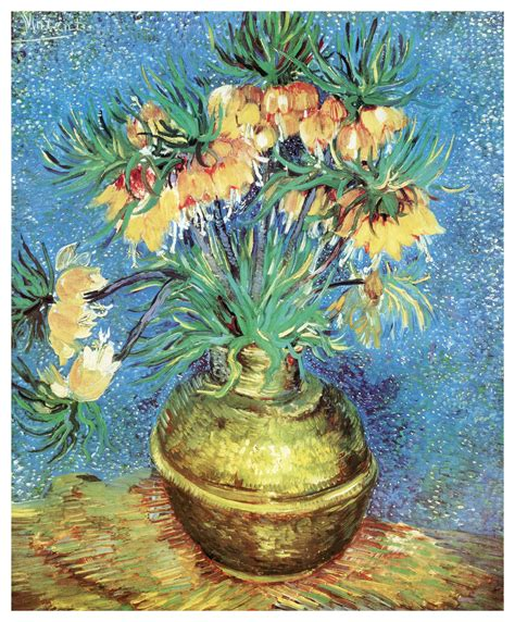 Vincent Gogh Vase by Fritillaries In A Copper Vase 1886 By Vincent Gogh