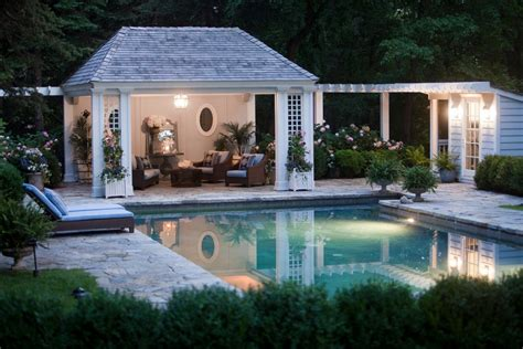 pool house pool cabana ideas pool traditional with hanging lantern