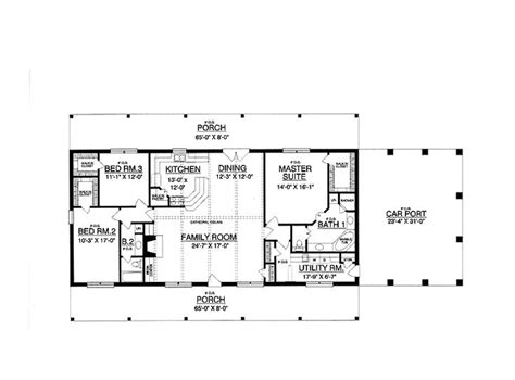 30x50 Rectangle House Plans Expansive One Story I Would Add A Second Story With More Bedrooms