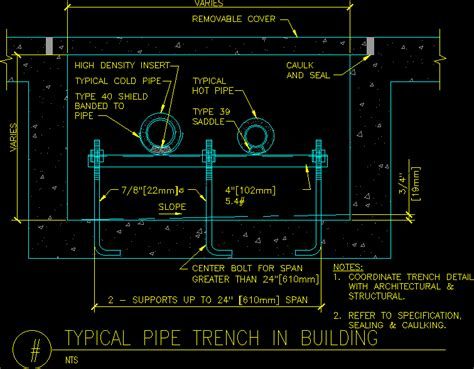 pipe trench support dwg block  autocad designs cad