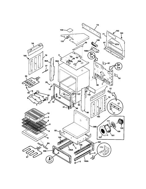 frigidaire stove parts diagram frigidaire parts diagrams frigidaire free engine image