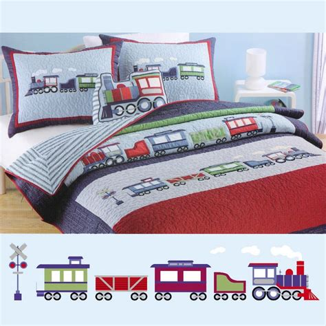 train bedding train qulit