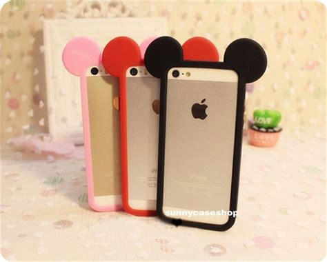 new mickey mouse ear frame silicone soft bumper