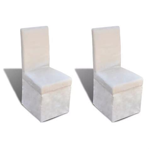 tavola con sedie sedie da tavola con fodera colore crema chiaro 2 articoli