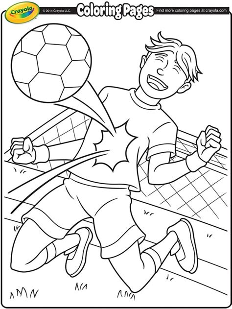 crayola coloring pages sports soccer player coloring page crayola com