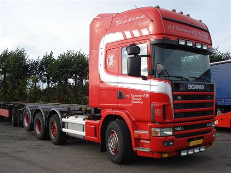 scania r144 530 8x2 container transporter truck