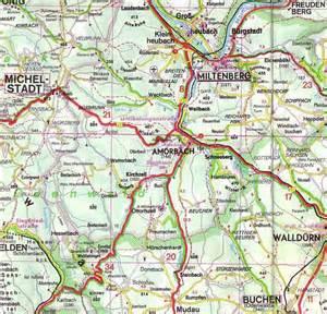 Road Map Of Germany by Amorbach Bayern Deutschland