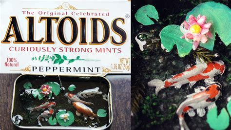 how to make a koi pond in your backyard how to make how to polymer clay koi pond altoid tin lotus online shopping com