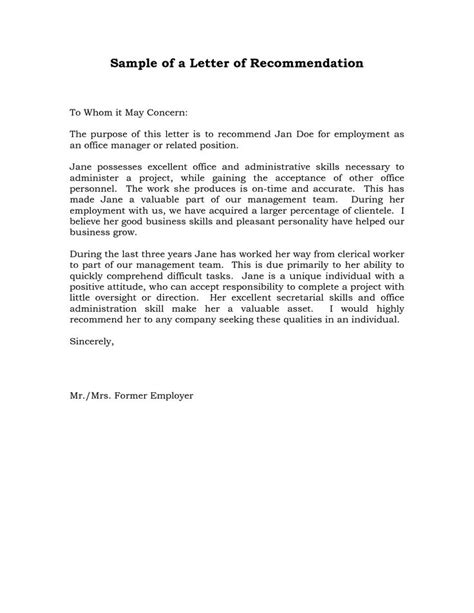 6 sample recommendation letter for a friend 8 free documents in