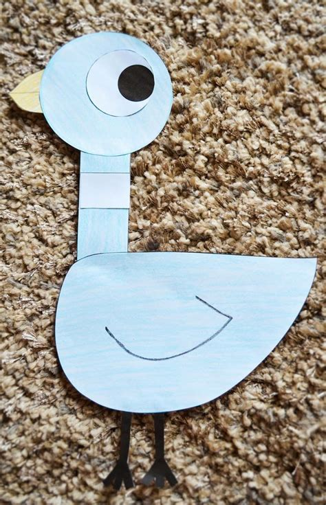 Pigeon Papercraft - mo willems an author study with pigeon elephant