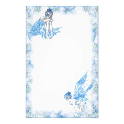 printable fairy stationary blue fairy stationary customized stationery zazzle