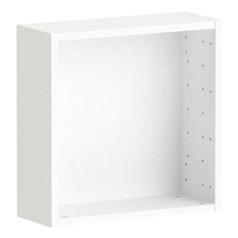 caisson spaceo home 40 x 40 x 15 cm blanc leroy merlin