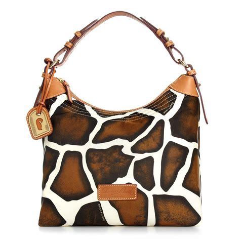 Bag Animal Giraffe dooney bourke large erica bag in animal giraffe lyst