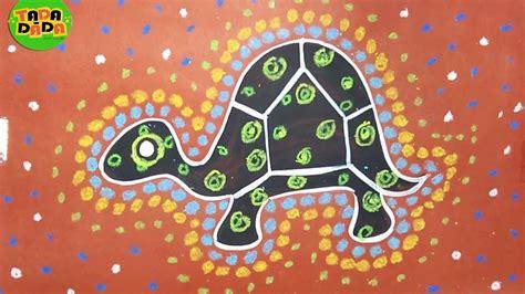draw  paint aboriginal art turtle australian