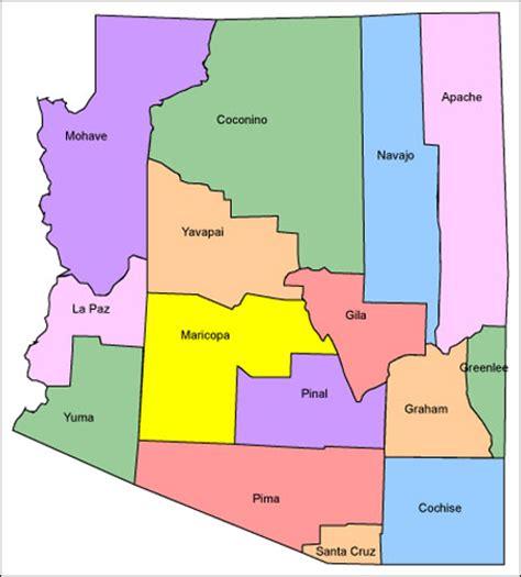 arizona county map maps arizona county map