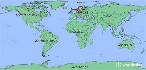 sweden on a world map where is sweden where is sweden located in the world
