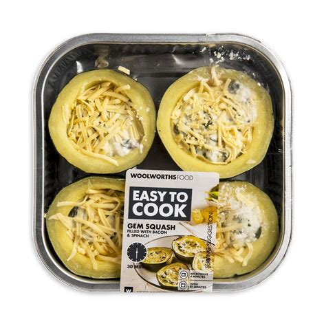 easy to cook gem squash 4 halves woolworths co za