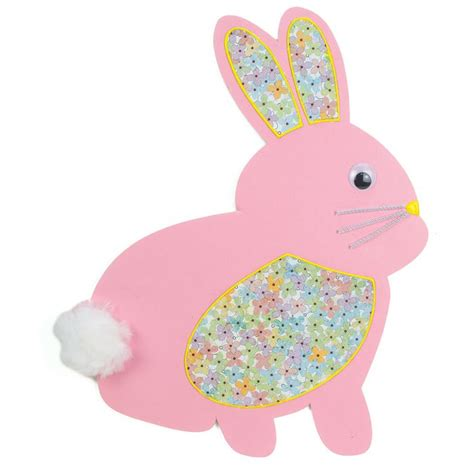 pink easter pattern nicole crafts pink foam board bunny easter bunny craft