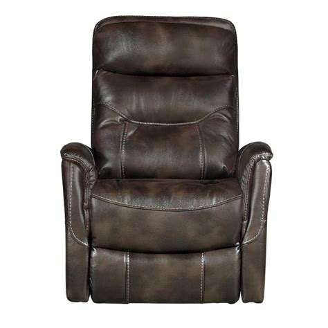 upholstered glider recliner coffee brown 33 quot upholstered power swivel glider recliner