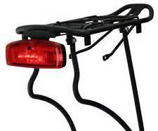 bicycle rear rack light ebay