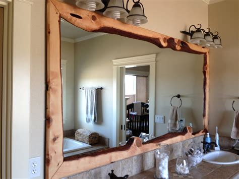 framed bathroom mirrors best way to give unique character decorative wood mirrors natural mirror frame ideas bimumco