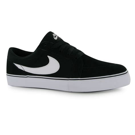 nike sb satire ii skate shoes mens black white casual
