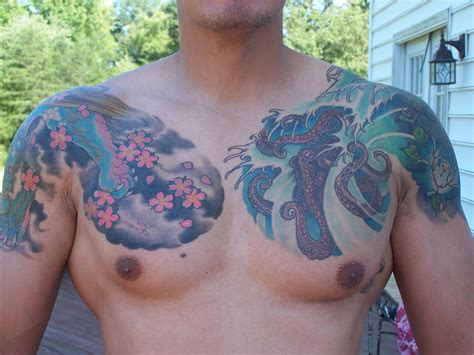 Tattoo On Front Chest | front chest tattoo picture