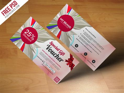 gift card templates psd freebie multiuse gift voucher template free psd by psd